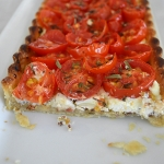 Tomato Tart with Fig and Dijon