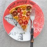 Tomato Tart with Pesto and Mozzarella