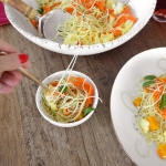 Rice Spaghetti with Carrot & Squash