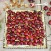 Cherry Walnut Tart with Mascarpone