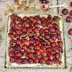 Cherry Walnut Tart with Mascarpone