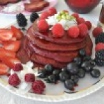 The Simplest Beet Pancakes